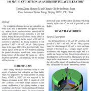 سیکلوترون-H 100 مگاالکترون ولت به عنوان یک پدال شتابگر