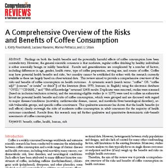 ارزیابی ومرور جامع ریسک ها و مزایای مصرف قهوه