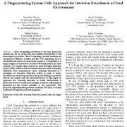 سیستم انگشت نگاری روشی برای تشخیص نفوذ در یک محیط ابری