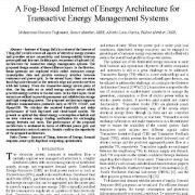 معماری و ساختار اینترنت انرژی مبتنی بر مه مدیریت انرژی تعاملی