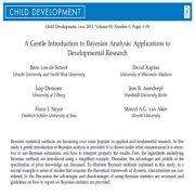 مقدمهای در خصوص تحلیل بیزی: کاربردها در زمینه تحقیقات رشد