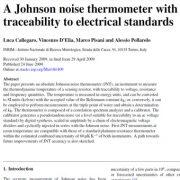 ترمومتر نویز جانسون با ردیابی با استاندارد های الکتریکی