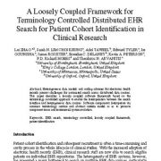 یک چارچوب مستقل برای جست و جوی EHR توزیعی کنترل شده (از نظر واژگان)