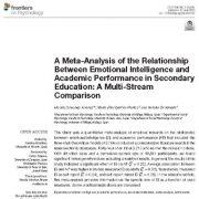 فراتحلیل رابطه بین هوش هیجانی و عملکرد تحصیلی در دوره متوسطه: مقایسه چند روش