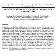 بررسی اصول و روشهای تثبیت و تحکیم خاک