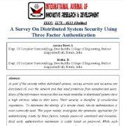 مطالعهای بر روی امنیت سیستم توزیعی با استفاده از احراز هویت سه عاملی