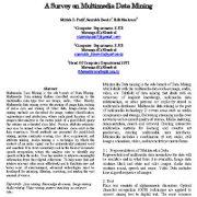 پژوهشی در مورد داده کاوی چند رسانهای