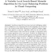 جست و جوی متغیر محلی بر اساس الگوریتم ممتیک برای مسئله توازن بار