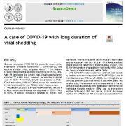 یک مورد COVID-19 با دفع طولانی مدت ویروس