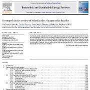 مروری جامع و کامل بر  نماهای ساختمان خورشیدی: نماهای ساختمان خورشیدی کدر و مات