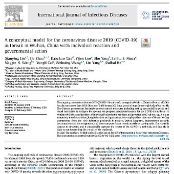 مدل مفهومی برای  شیوع بیماری کروناویروس ۲۰۱۹   در ووهان چین