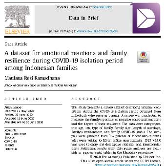 مجموعه دادهها برای واکنشهای هیجانی و عاطفی و تاب آوری خانواده