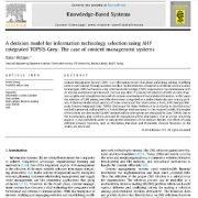 مدل تصمیم گیری برای انتخاب فناوری اطلاعات با استفاده از AHP