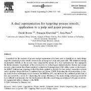 نمایش دو گانه برای هدف یابی بازسازی فرایند، کاربرد به فرایند خمیر و کاغذ