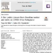 اولین مجموعه داده از اخبار و توییتر  مربوط به کوید-۱۹ در میان پرتغالی ها
