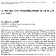 یک سیستم پیش بینی سیلاب بهنگام بر اساس GIS و DEM
