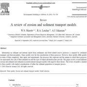 بررسی مدلهای فرسایش و  انتقال رسوب