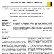 بررسی نانوذرات نقرهای بر پایه گیاهان: سنتز، برنامههای بالقوه