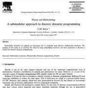نظریه و روش: یک روش زیرپیمانه ای به منظور برنامه ریزی دینامیک گسسته