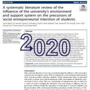 مرور منابع سیستماتیک در مورد تأثیر محیط و سیستم پشتیبانی دانشگاه