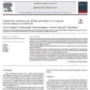 یک بررسی سیستماتیک در مورد کارایی و ایمنی کلروکین برای درمان COVID-19