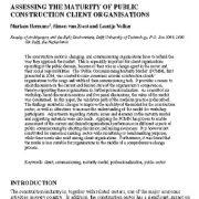 ارزیابی بلوغ سازمانهای ساخت و ساز عمومی بر محور ارباب رجوع