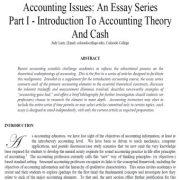 مسائل حسابداری: سری مقالات بخش ۱- مقدمه ای بر تئوری حسابداری و پول نقد