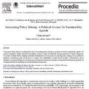 ایجاد سیاست های حسابرسی: روش های سیاسی برای دستور جلسه توسعه پایداری