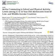 پیاده روی تا مدرسه  و سطح  فعالیت فیزیکی(بدنی) در میان نوجوانان ۱۱ تا ۱۶ساله