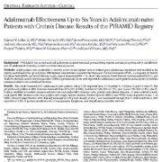 "<span itemprop=""name"">بررسی درمان بیماران التهاب روده کرون با استفاده از داروی آدالیموماب</span>"