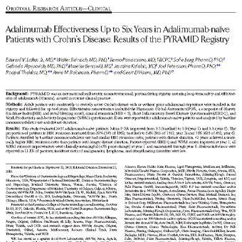 بررسی درمان بیماران التهاب روده کرون با استفاده از داروی آدالیموماب