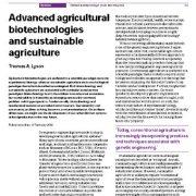 بررسی رابطه  بیوتکنولوژی پیشرفته ی کشاورزی و دست یابی به کشاورزی پایدار با زیست فناوری