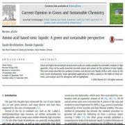 مایعات یونی مبتنی بر اسید آمینه: یک چشم انداز سبز و پایدار