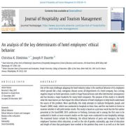 تجزیه تحلیل  عوامل کلیدی موثر بر رفتار اخلاقی کارکنان هتل