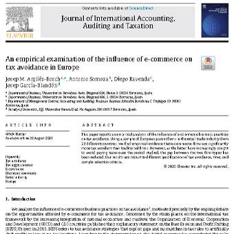 بررسی تجربی اثر تجارت الکترونیک روی اجتناب مالیاتی در اروپا