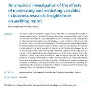 بررسی تجربی اثرات متغیرهای واسطهای و تعدیل کننده در تحقیقات کسب و کار