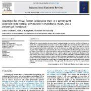 ارزیابی سیستماتیک و چارچوب مفهومی تجزیه تحلیل