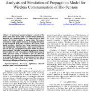 آنالیز و شبیه سازی مدل تکثیر برای ارتباط وایرلس (بی سیم) حسگرهای زیستی