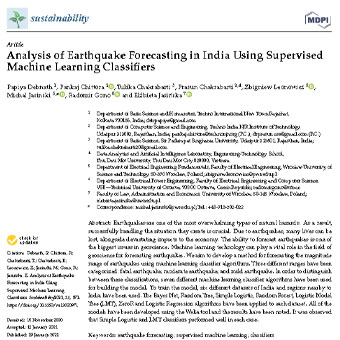 تجزیه و تحلیل پیش بینی زلزله در هند با استفاده از دسته بندهای یادگیری ماشین تحت نظارت