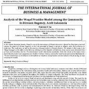 تجزیه و تحلیل مدل عملی وقف در میان جامعه در منطقه بیروئن، آچه اندونزی
