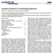شیمی تجزیه در تحقیقات باستان شناسی