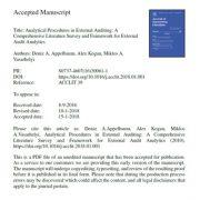 حسابرسی خارجی:  تحلیلهای حسابرسی خارجی