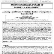 تحلیل رابطه نقدینگی و سودآوری شرکتها در بورسا استانبول