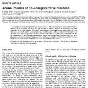 مدلهای حیوانی بیماریهای نورودژنراتیو (تخریب کننده عصبی)