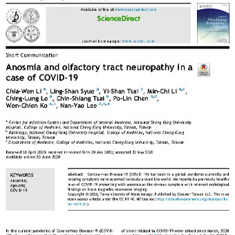 آنوسمی و نوروپاتی مجرای بویایی در بیماران   COVID-19