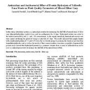 اثر آنتی اکسیدانی و آنتی باکتریال هیدرولیز پروتئین