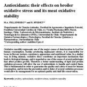 آنتی اکسیدان ها: اثرات آنها بر روی استرس اکسیداتیو جوجه گوشتی