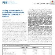 اضطراب و افسردگی در بیماران با کوید ۱۹ تأیید شده و مشکوک در اکوادور