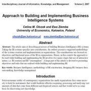 رویکردی به ساخت و پیادهسازی سیستمهای هوش تجاری