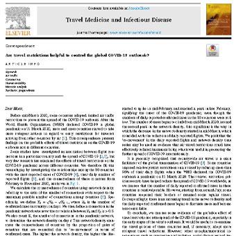 آیا محدودیت های سفر برای کنترل شیوع جهانی COVID-19 مفید است؟